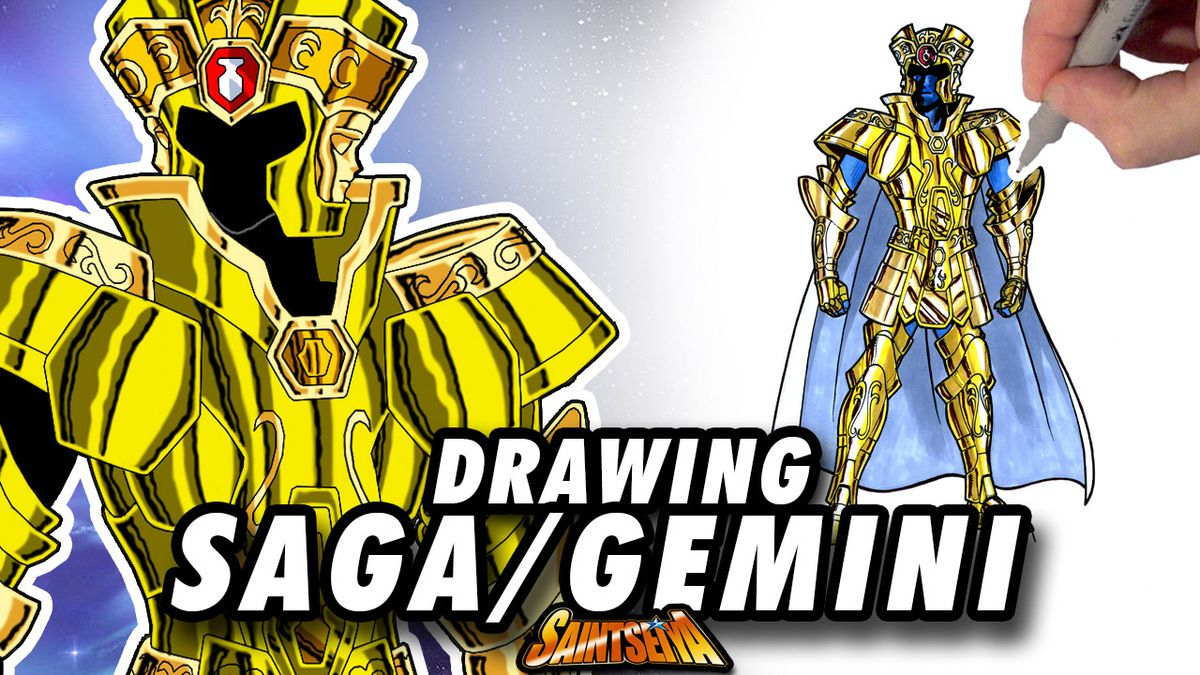 [Saint Seiya] Saga GEMINI Gold Saint ! Speed Drawing ✏️ Comic Book Style ✏️ ♊️