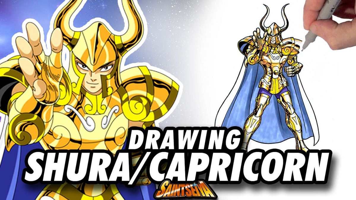 [Saint Seiya] Shura CAPRICORN Gold Saint ! Speed Drawing ✏️ Comic Book Style ✏️ ♑️