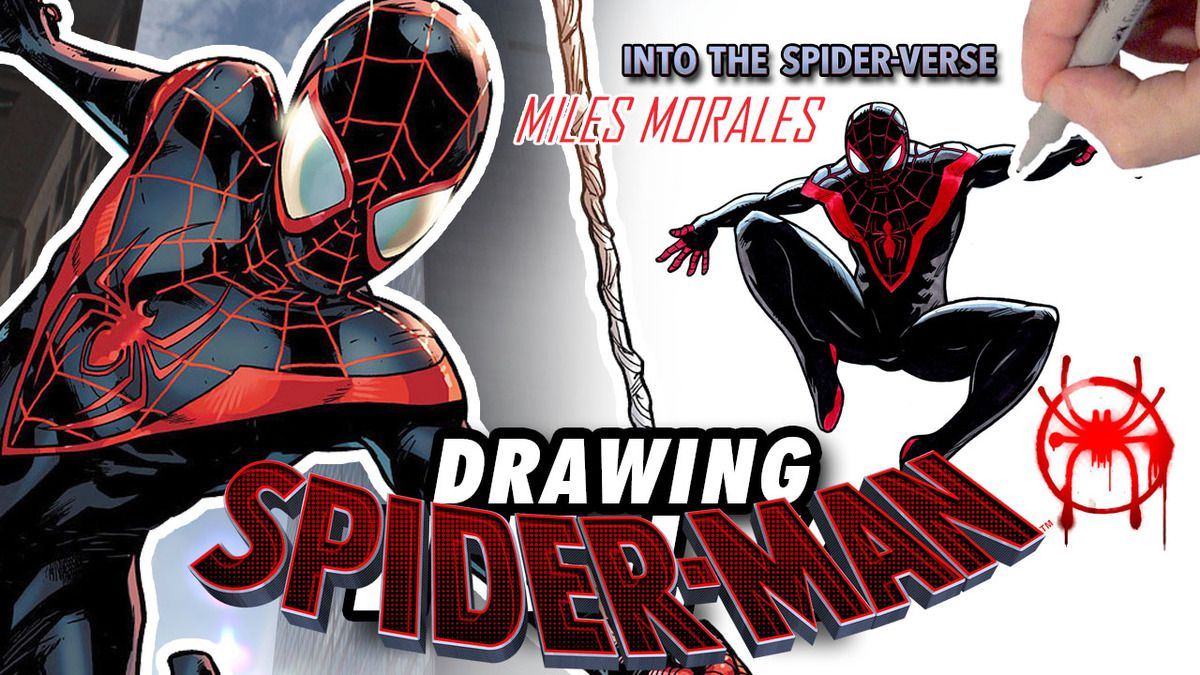 SPIDER-MAN : INTO THE SPIDER-VERSE ! Speed Drawing ✏️ Comic Book Style ✏️ 🤟