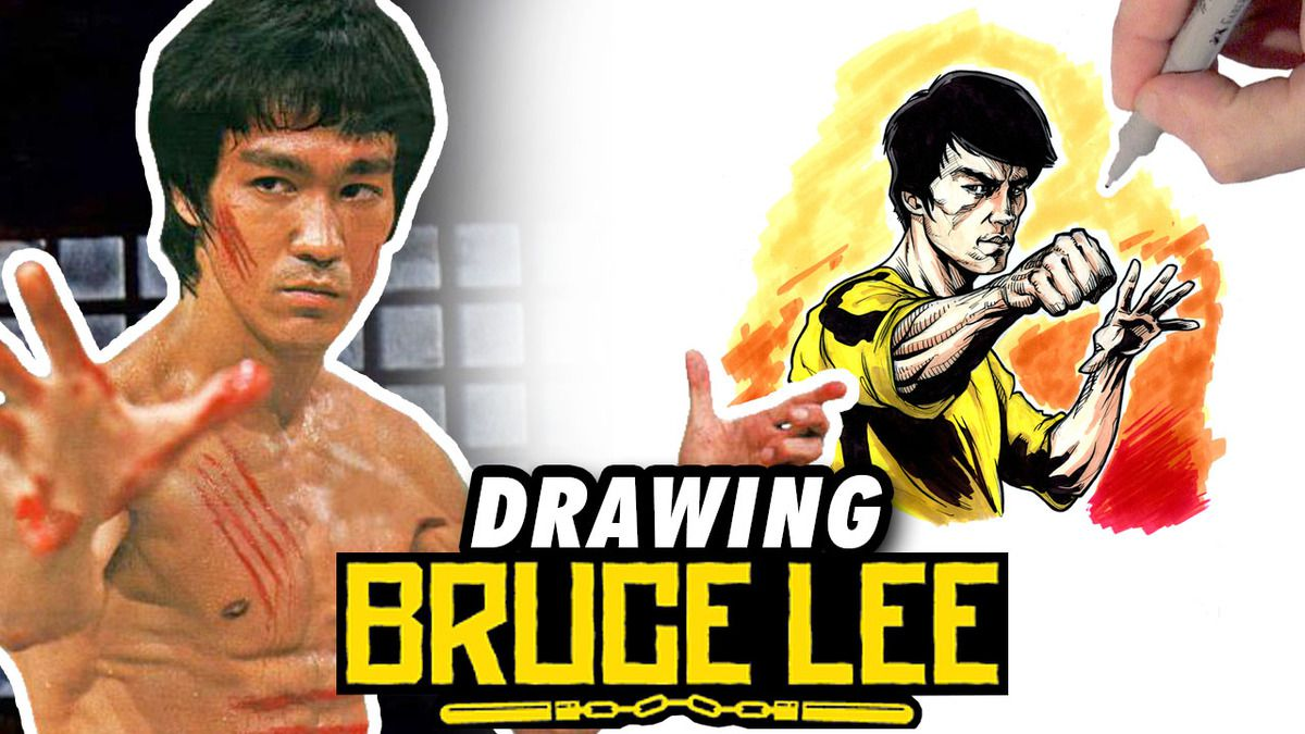 BRUCE LEE ! Speed Drawing ✏️ Comic Book Style ✏️ ⛩
