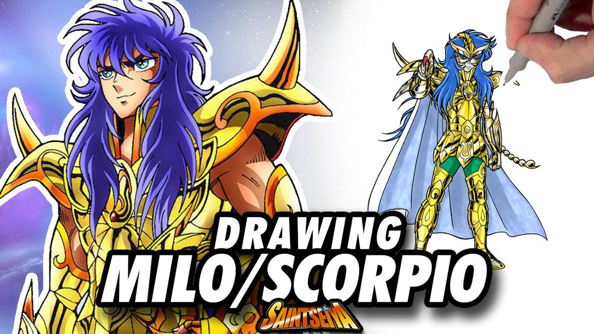 [Saint Seiya] Milo SCORPIO Gold Saint ! Speed Drawing ✏️ Comic Book Style ✏️ ♏️