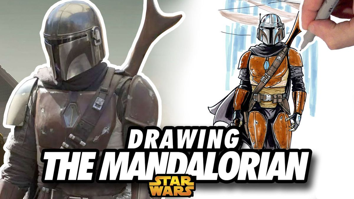 THE MANDALORIAN ! Speed Drawing ✏️ Comic Book Style ✏️ 🔫