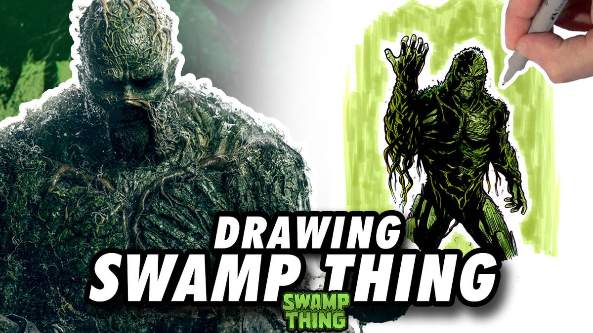 SWAMP THING ! Speed Drawing ✏️ Comic Book Style ✏️ 🌿