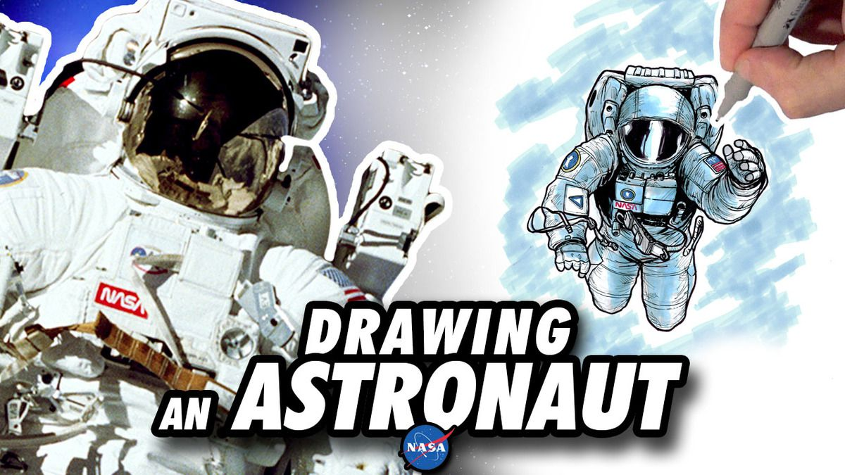 Drawing an ASTRONAUT in Space ! Speed Drawing ✏️ Comic Book Style ✏️ 👨🏼‍🚀