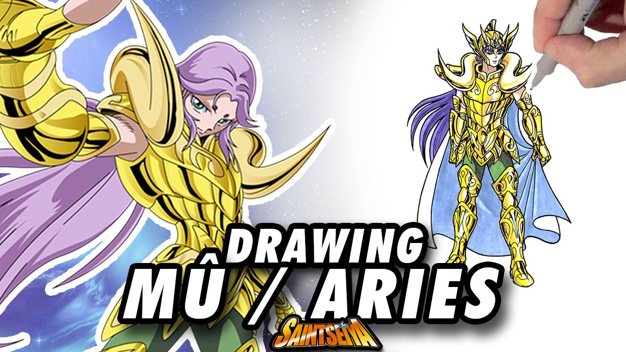 [Saint Seiya] Mû ARIES Gold Saint ! Speed Drawing ✏️ Comic Book Style ✏️ ♈️