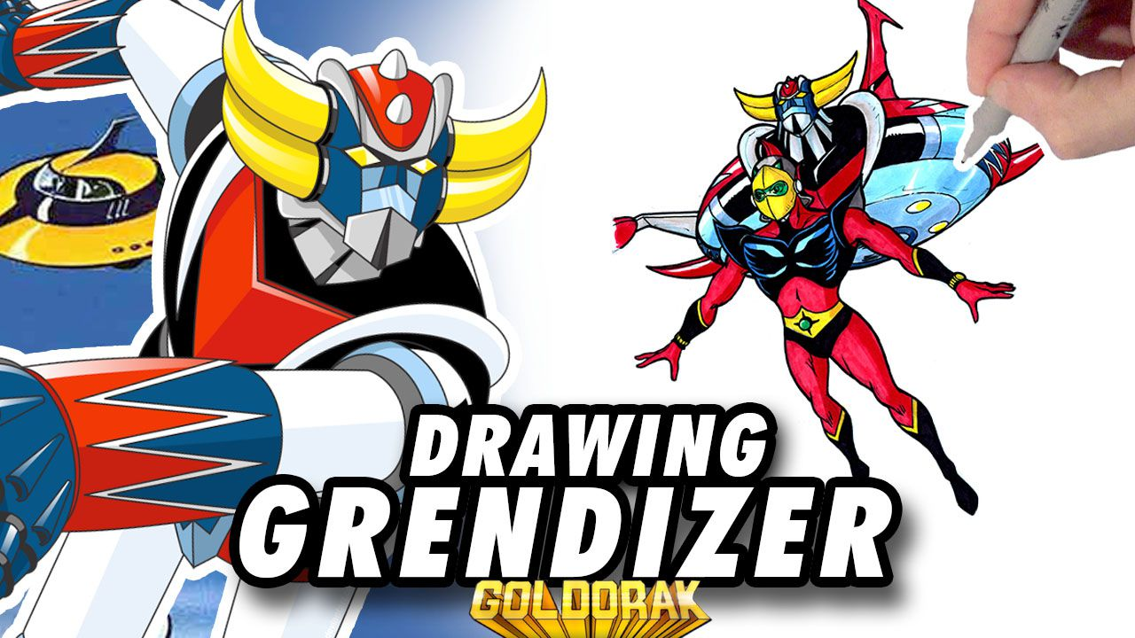 GRENDIZER [Goldorak] ! Speed Drawing ✏️ Comic Book Style ✏️🌠