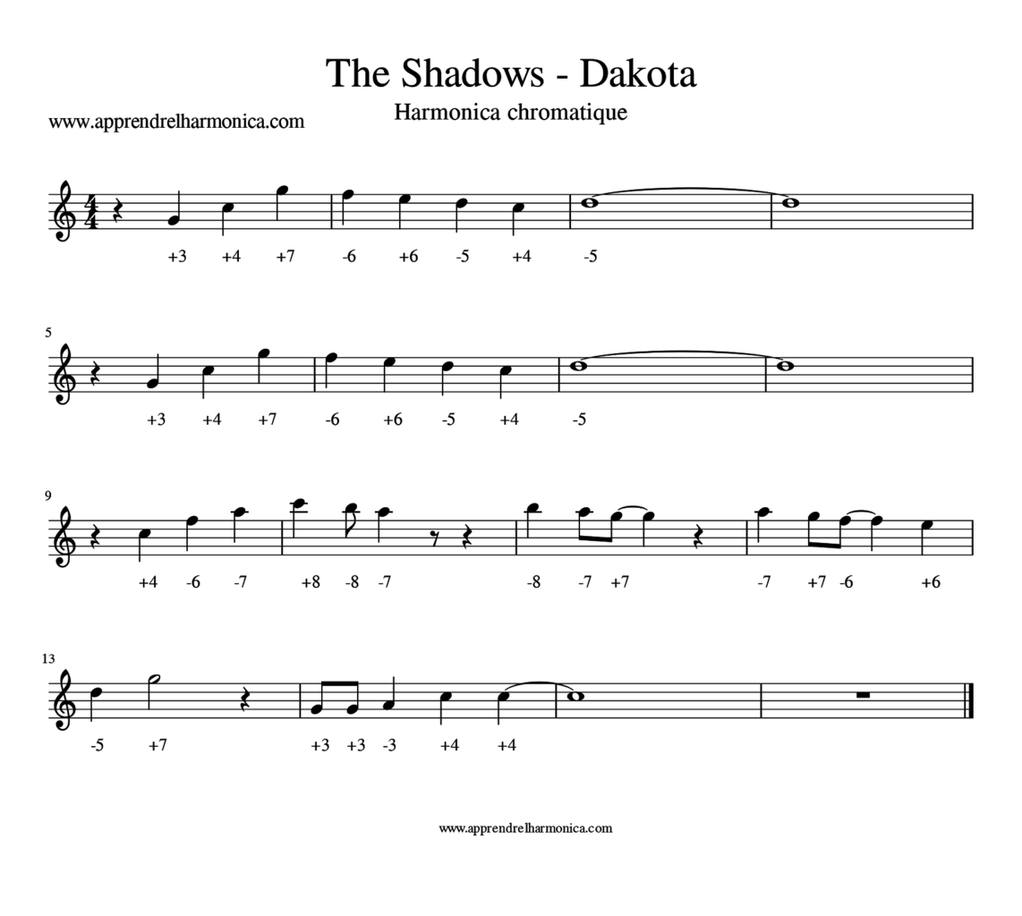 The Shadows - Dakota - Harmonica chromatique