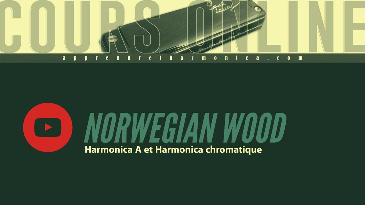 The Beatles - Norwegian wood - Harmonica A et Harmonica chromatique
