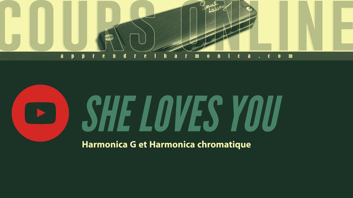 The Beatles - She Loves You - Harmonica G et Harmonica Chromatique