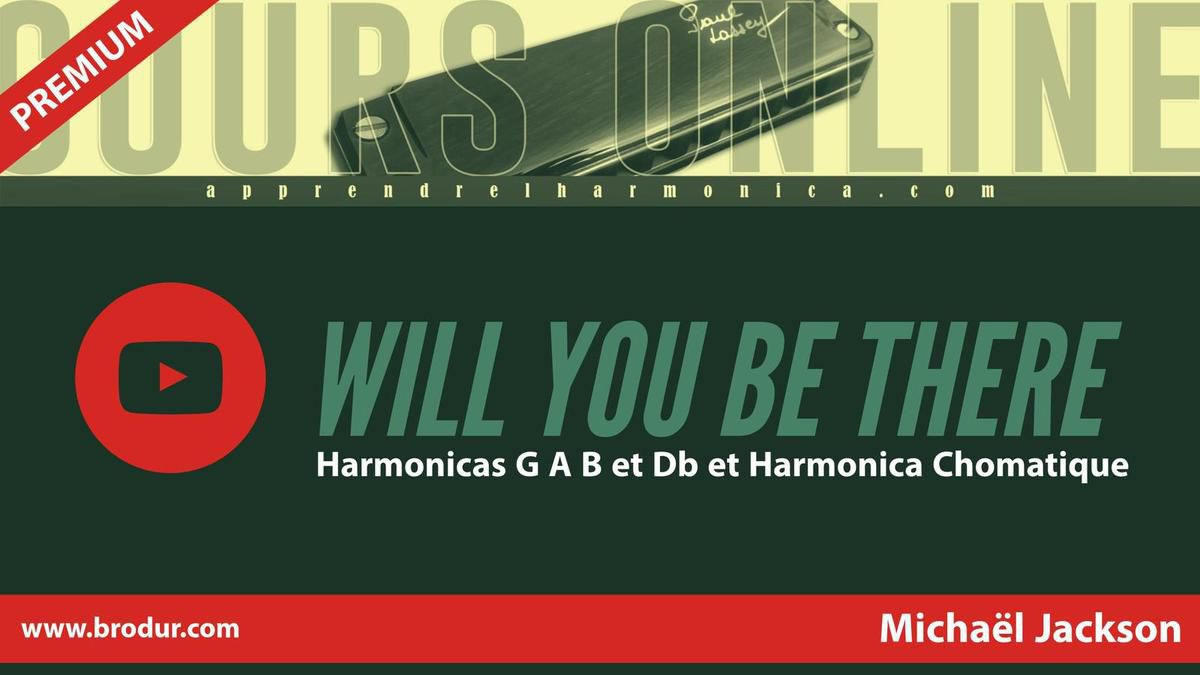 Michael Jackson - Will You be There - Harmonicas G A B et Db et Harmonica Chomatique