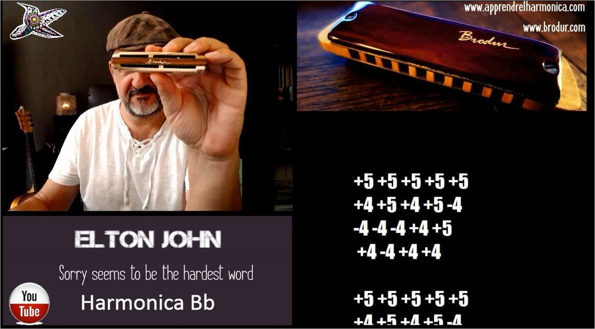 Elton John - Sorry Seems To Be The Hardest Word - Harmonica Bb
