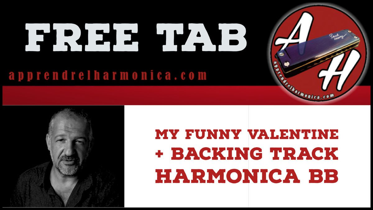 My funny Valentine + backing track - Harmonica Bb
