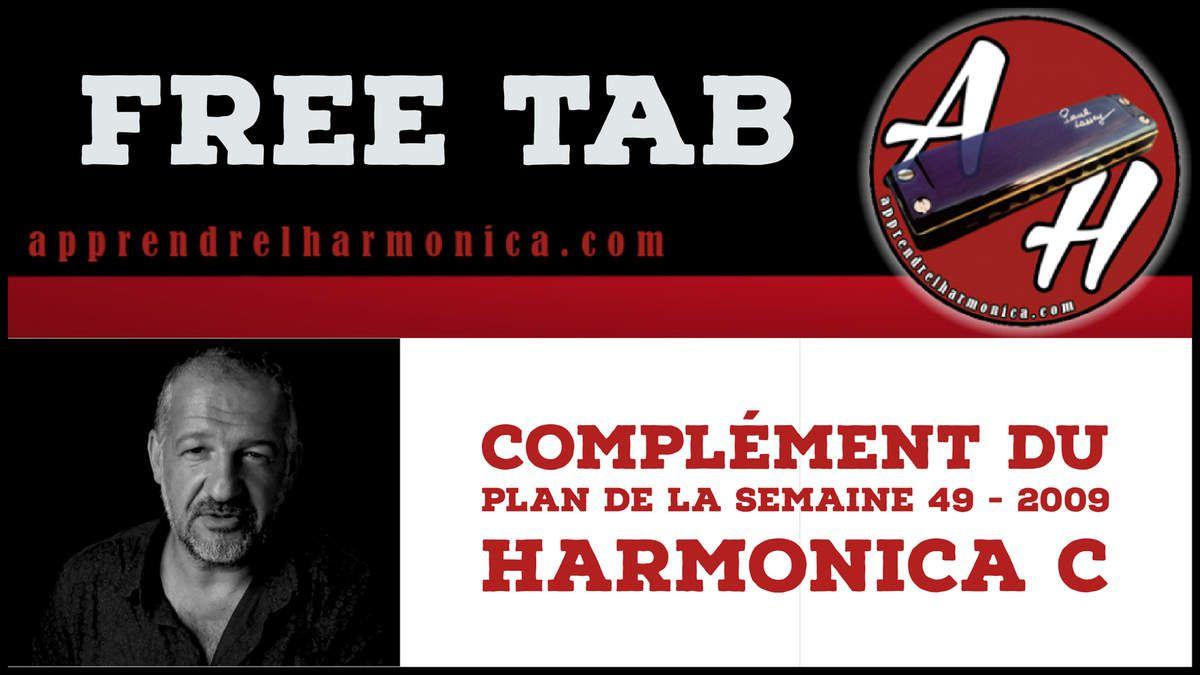 Le plan de la semaine (49-2009) - Complément avec la partition - Harmonica C
