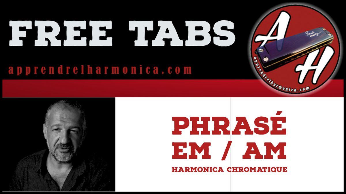 Phrasé Em / Am - Harmonica chromatique 14 (trous)