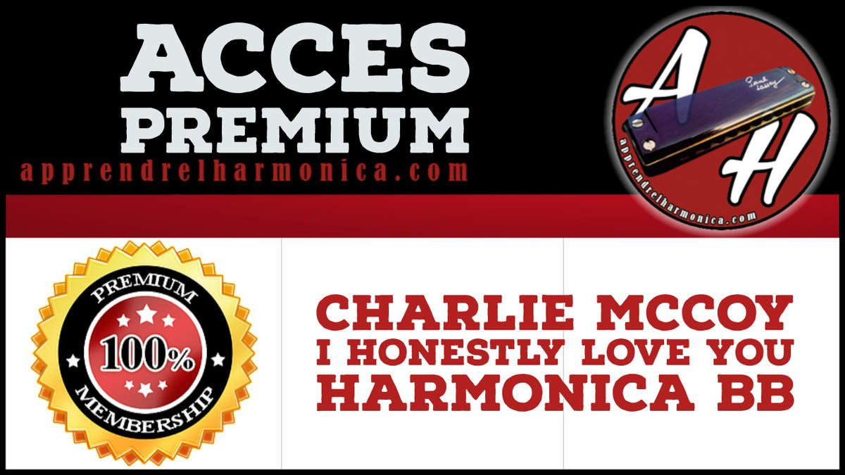 Charlie McCoy -  I Honestly Love You - Harmonica Bb