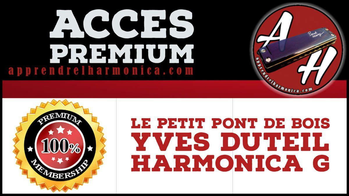Le petit pont de bois - Yves Duteil - Harmonica G