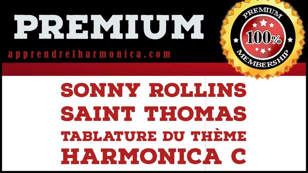 Saint-Thomas - Sonny Rollins - Le thème - Harmonica