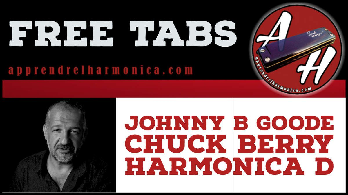 Chuck Berry - Johnny B Goode - Harmonica D - Without bend