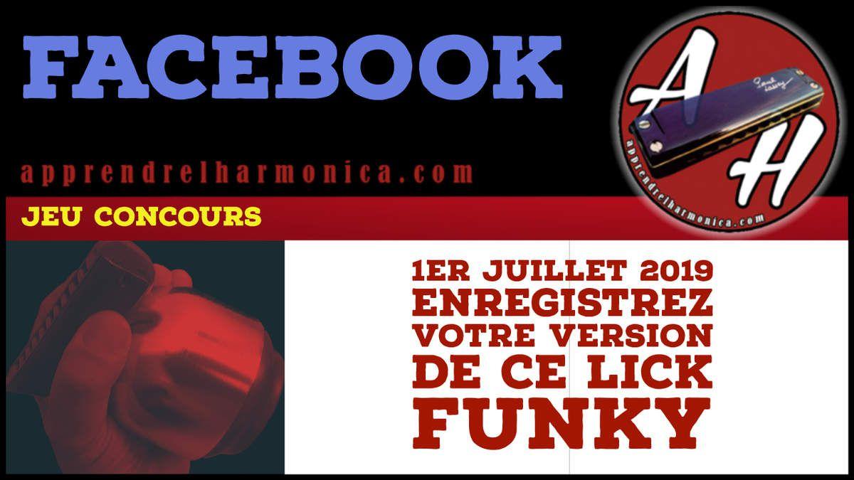 Résultat du jeu concours Facebook - Lick funky - Harmonica C