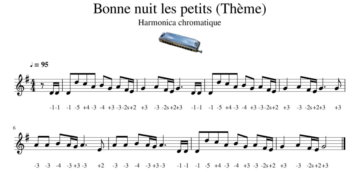 Bonne nuit les petits - Thème - Harmonica chromatique