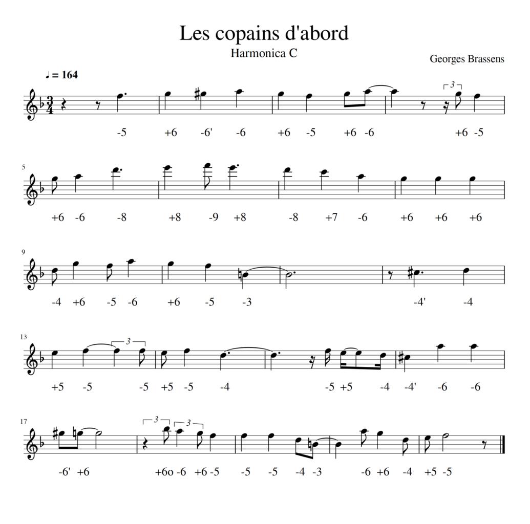 Georges Brassens - Les Copains D'abord - Harmonica C