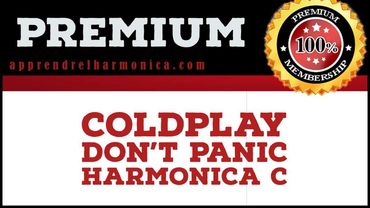 Coldplay- Don't panic - Harmonica C