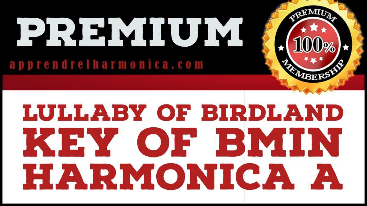 Lullaby of Birdland - Key of Bmin - Harmonica A