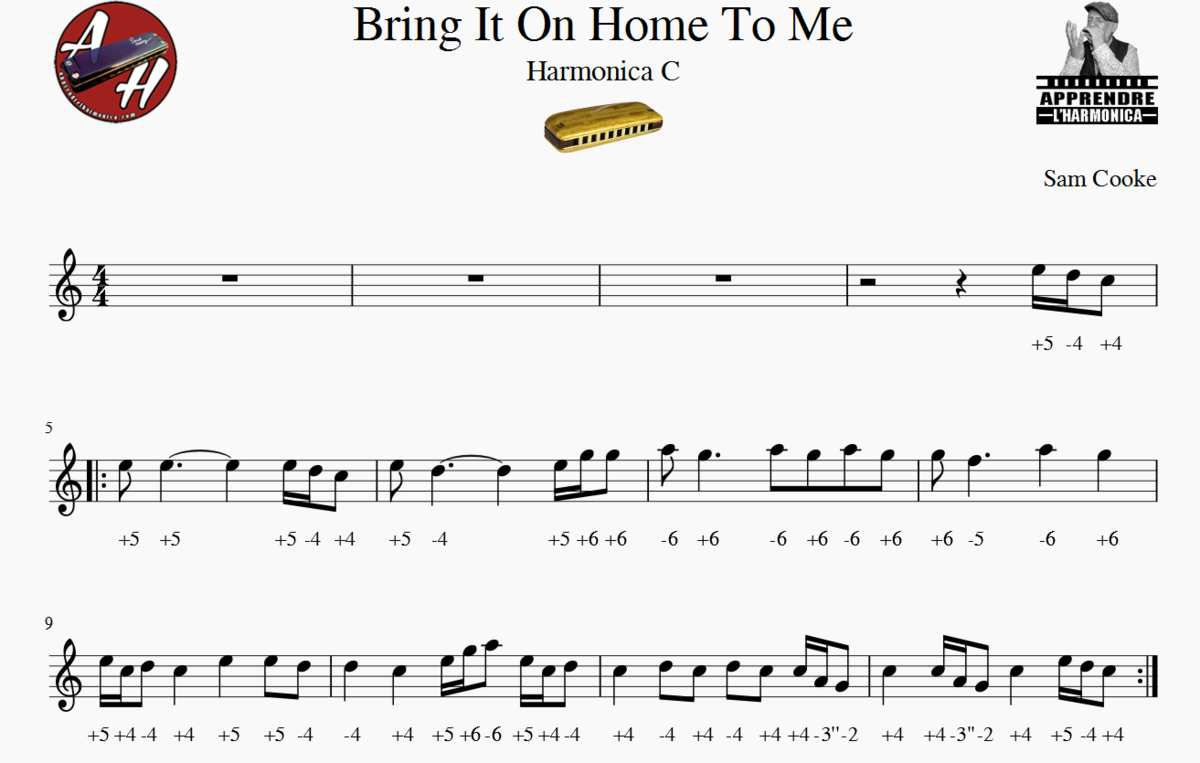 Bring It On Home To Me - Sam Cooke - Harmonica C