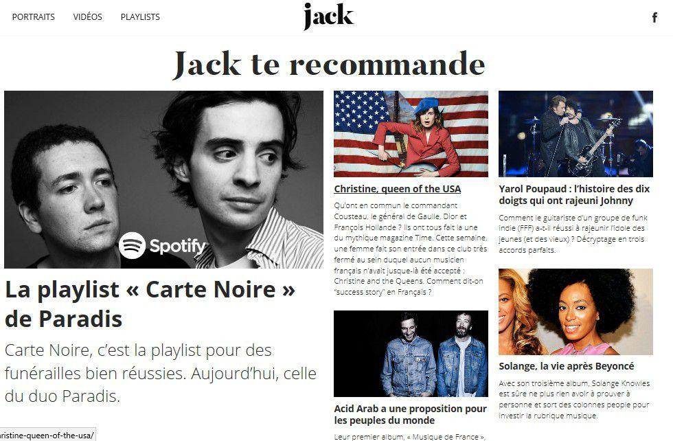Média : Canal+ lance Jack, pure player dédié à la musique