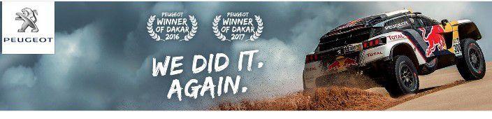 Automobile : Vainqueur du Dakar 2017, Peugeot fait son show !