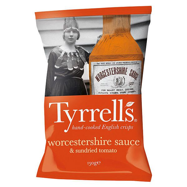 Packaging : Tyrrell's Chips communique en France