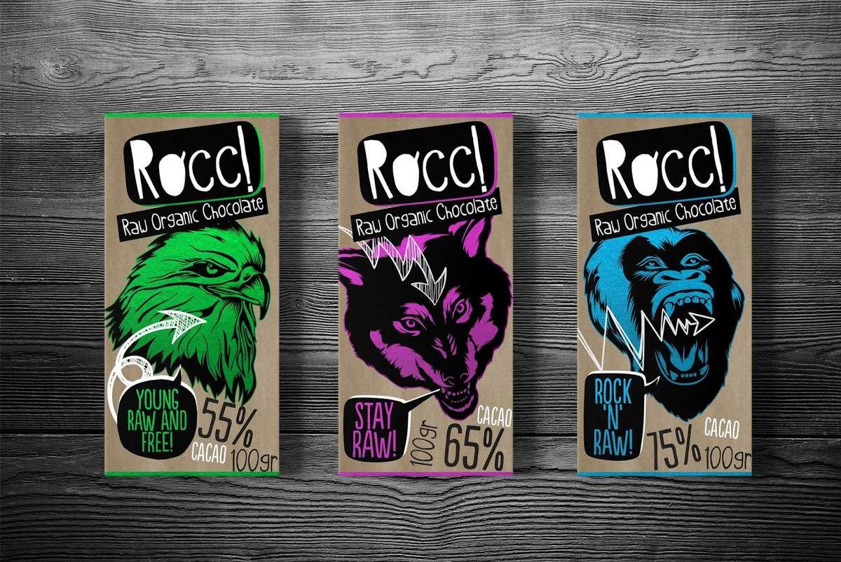 Packaging : Rocc! Raw Organic Chocolate, la plaquette de chocolat qui déchire