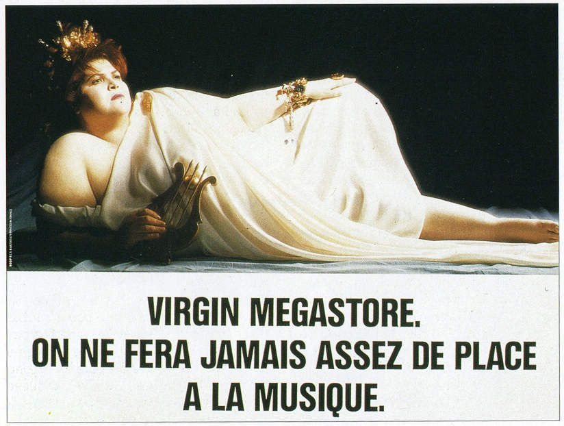 Pub d'autrefois : 1990, Virgin Megastore sort une affiche hors norme
