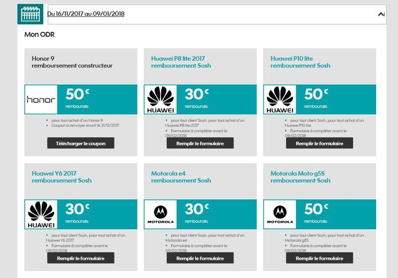Opérateur mobile : les ODR SOSH pour séduire les consommateurs avant noël