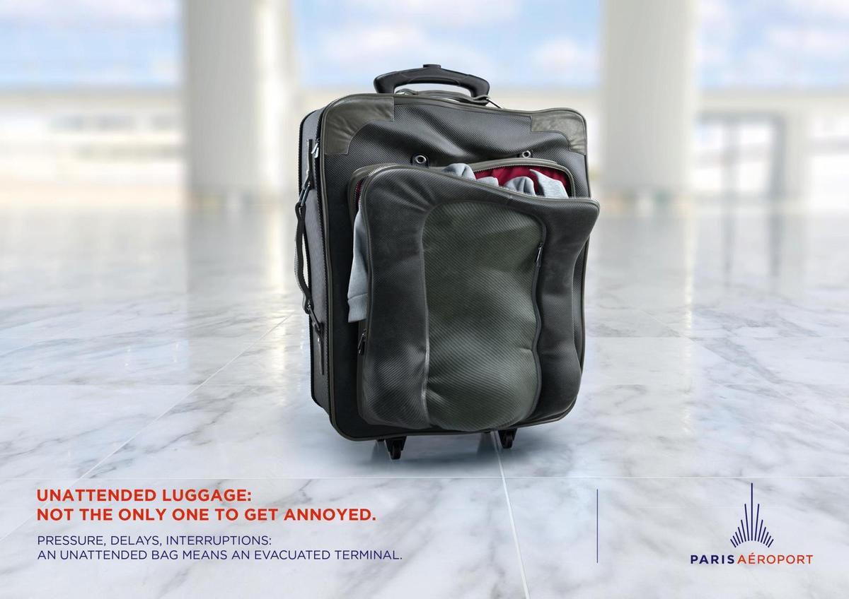 Pub de la semaine : aéroport de Paris avec les angry bags !