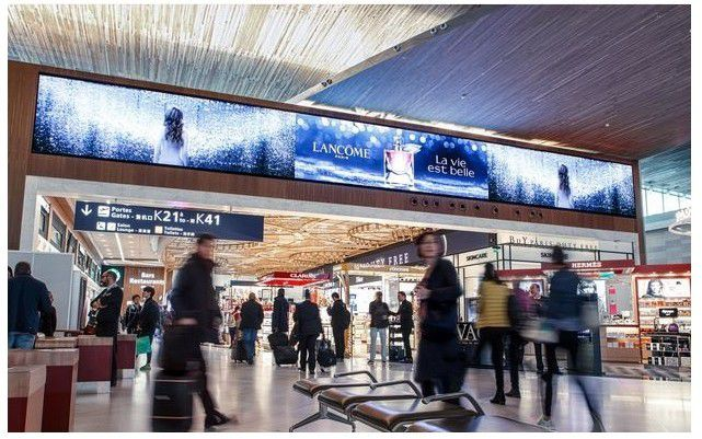 Media : JCDecaux Airport Paris déploie «La Place Digitale», un écran de 80m2