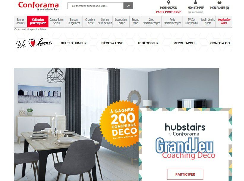 Brand content : Conforama lance son blog « We Love Home »