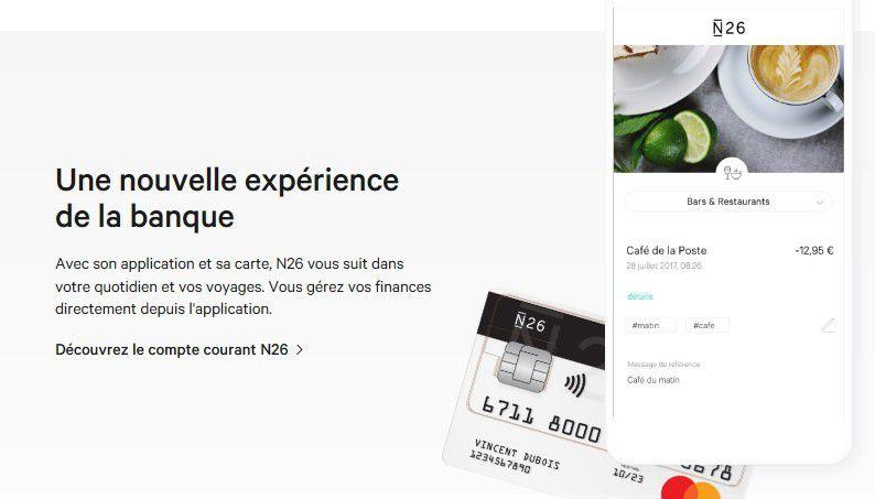 Web / fintech : Mastercard en métal chez N26