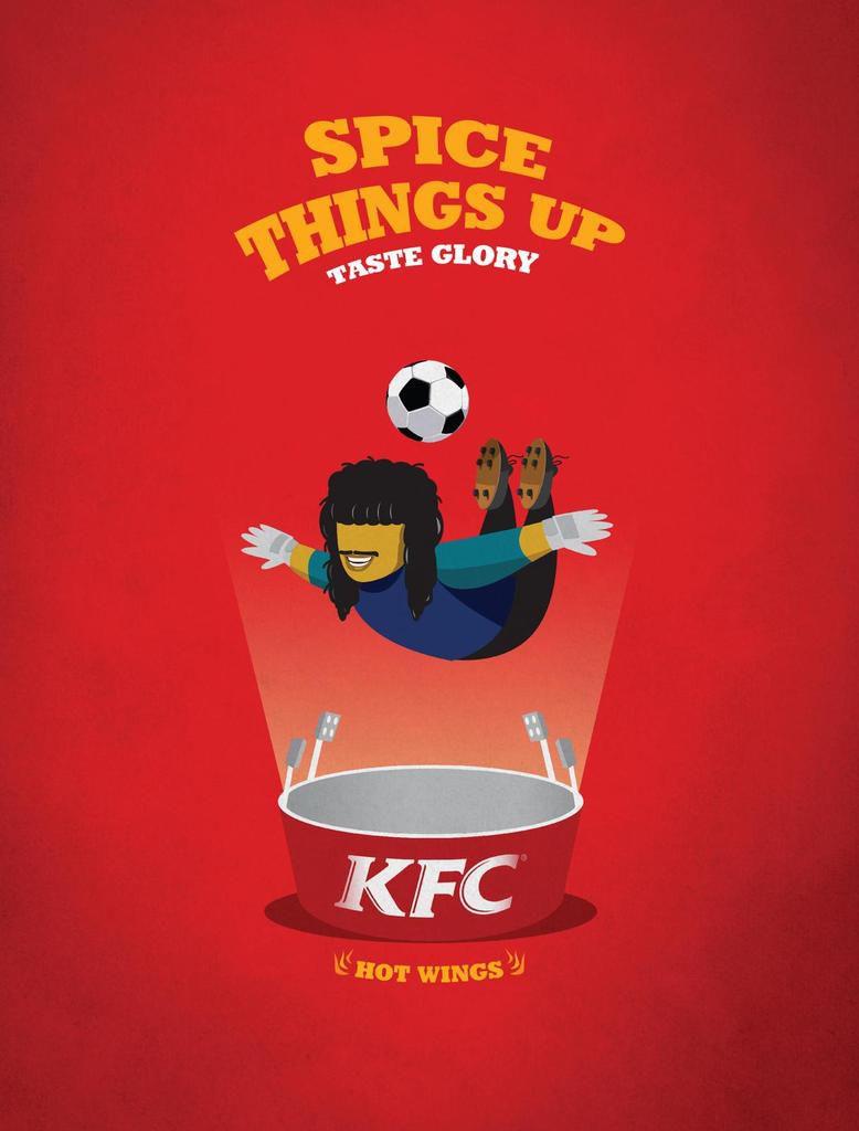 Le plus beau print de la semaine : Une campagne 100 % foot pour KFC