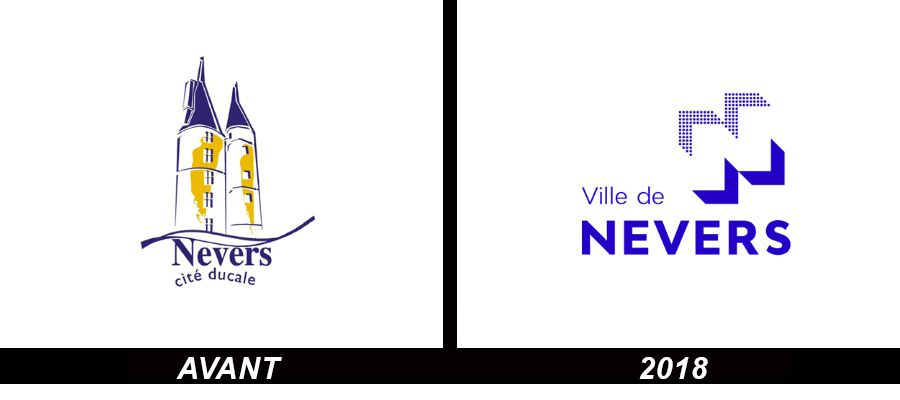 Branding : La ville de NEVERS change logo en sortant du style Kitch