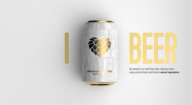 Packaging : Hop Heart, blanc et doré, la canette vraiment classe de la rentrée 2018