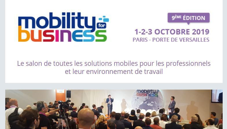 Marketing Event : MOBILITY FOR BUSINESS en octobre 2019 à Paris