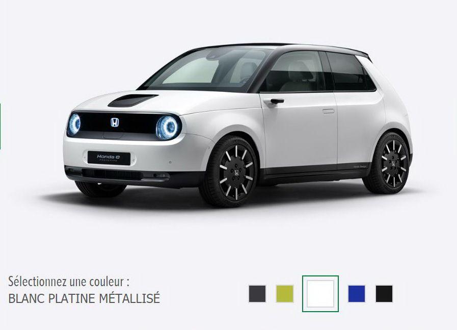 Automobile : Honda e,  la citadine électrique est disponible à la commande