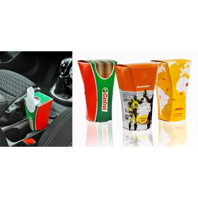 Packaging : La boite de mouchoir pour porte-gobelet de voiture