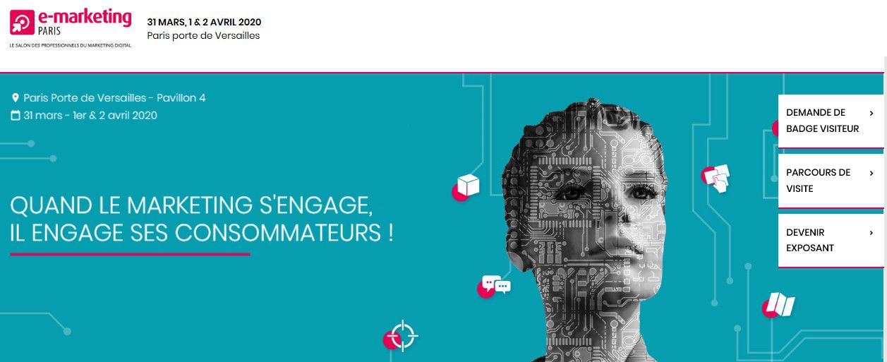 Marketing Event : Le salon e-marketing Paris 2020 dès le 31 mars