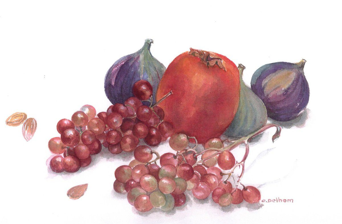 "nature ""morte"" aux raisins"
