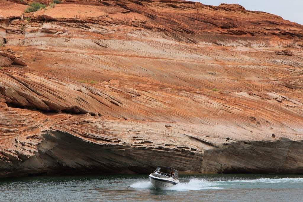 124 Antelope canyon en bateau