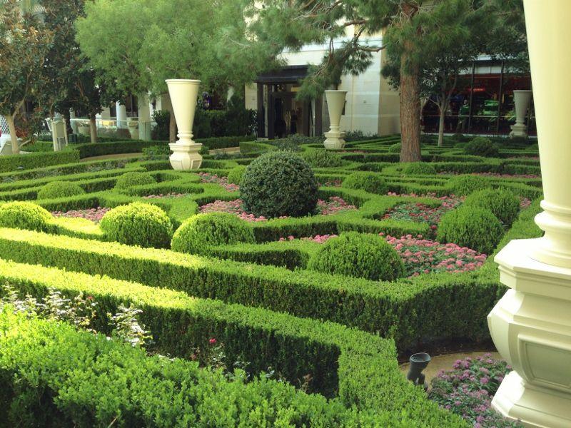 Le jardin extérieur de l'hôtel Wynn Encore - Las Vegas