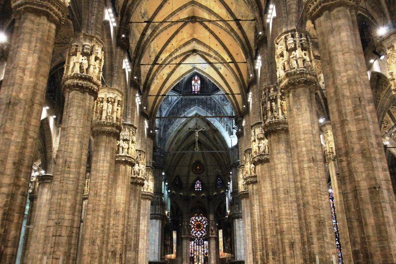 Intérieur cathédrale de Milan - Italie
