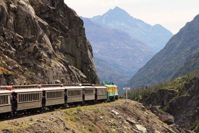 Paysages Yukon canadien - train touristique White pass Canada